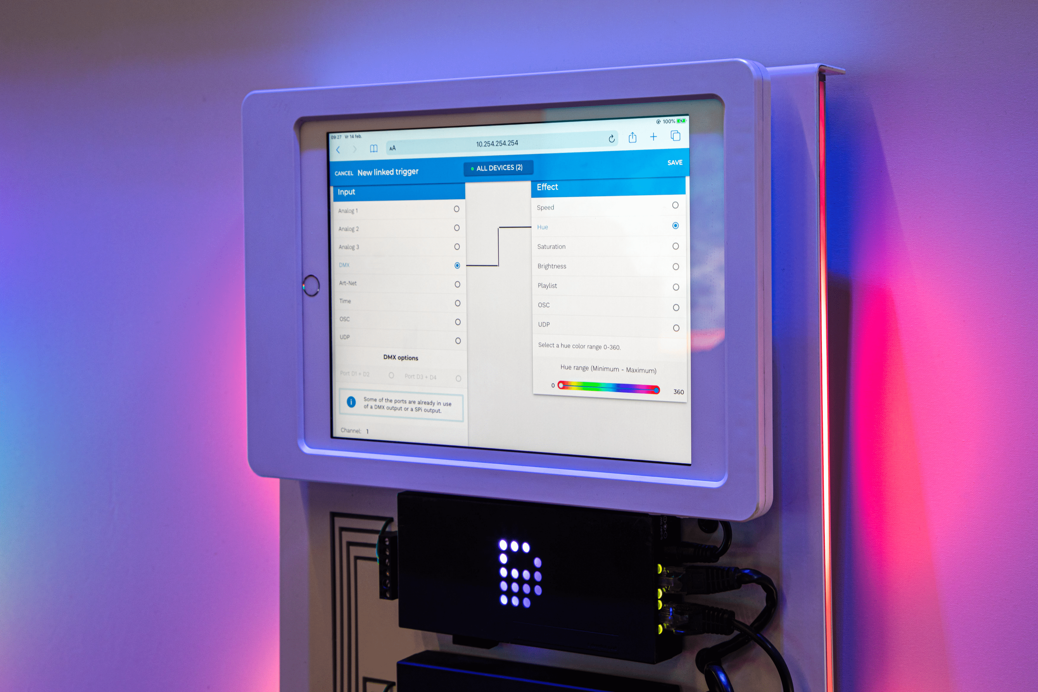 DiGidot interface on tablet
